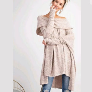 Easel Anthropologie womens off shoulder sweater